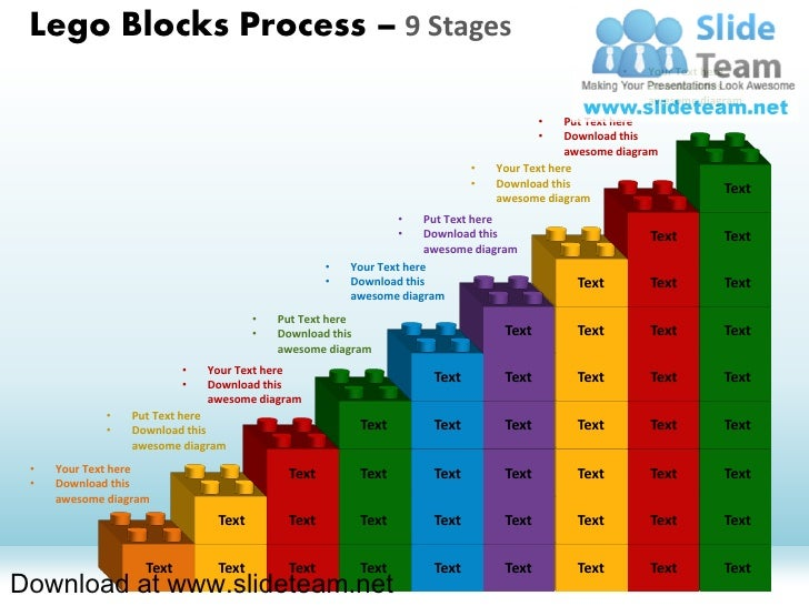 Lego Blocks Process – 9 Stages                                                                                            ...