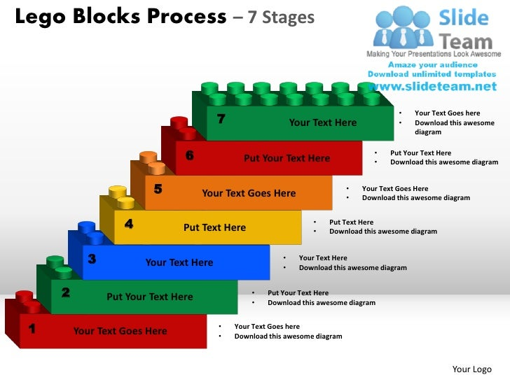 lego blocks process 7 stages powerpoint slides ppt templates. Black Bedroom Furniture Sets. Home Design Ideas
