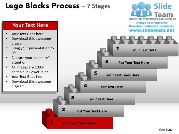 Lego blocks process 7 stages powerpoint slides ppt templates diagram your logo 2 lego blocks ccuart Images