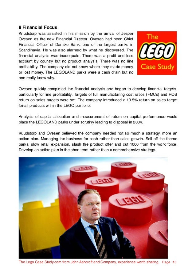 lego financial turnaround The lego case study, the great turnaround 2003 ovesen had been chief financial officer of danske bank lego case study - the great turnaround.