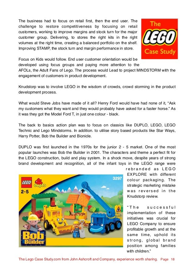The Lego case study, the great turnaround 2003 - 2013