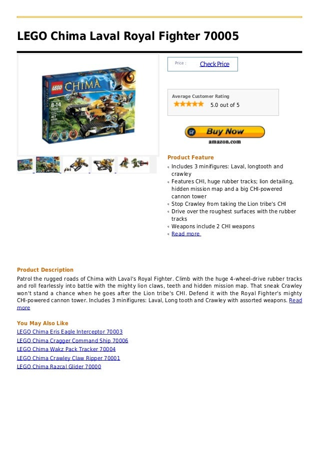 LEGO Chima Laval Royal Fighter 70005                                                              Price :                 ...