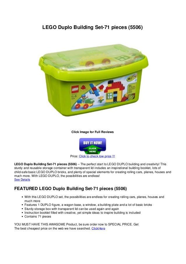 Lego duplo buildingset 71pieces5506