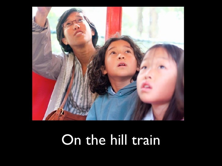 On the hill train