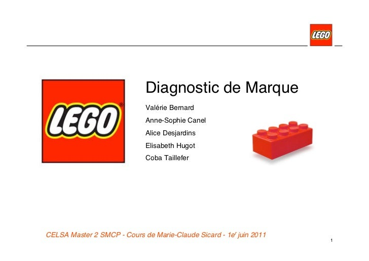 Diagnostic de Marque                             Valérie Bernard                             Anne-Sophie Canel            ...