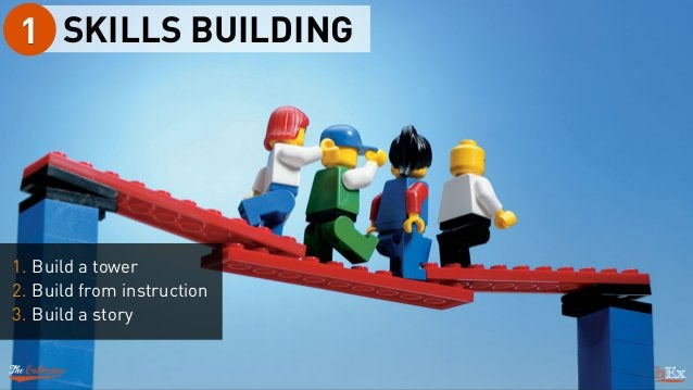 SKILLS BUILDING1 1. Build a tower 2. Build from instruction 3. Build a story