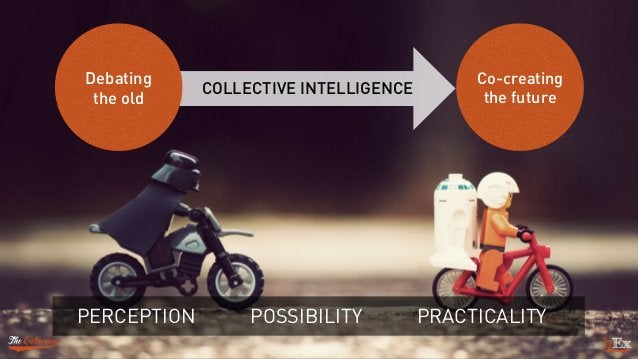 PERCEPTION POSSIBILITY PRACTICALITY Debating the old Co-creating the future COLLECTIVE INTELLIGENCE