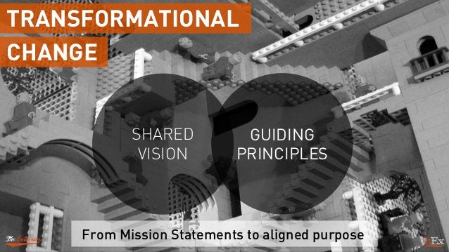 From Mission Statements to aligned purpose SHARED VISION GUIDING PRINCIPLES TRANSFORMATIONAL CHANGE
