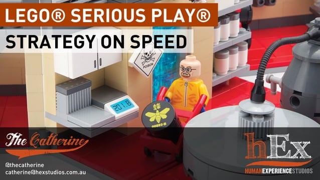 LEGO® SERIOUS PLAY® STRATEGY ON SPEED @thecatherine catherine@hexstudios.com.au