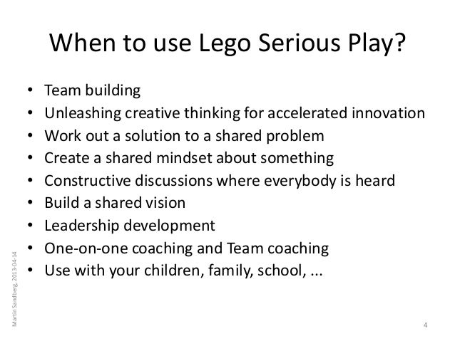 Lego Serious Play Introduction