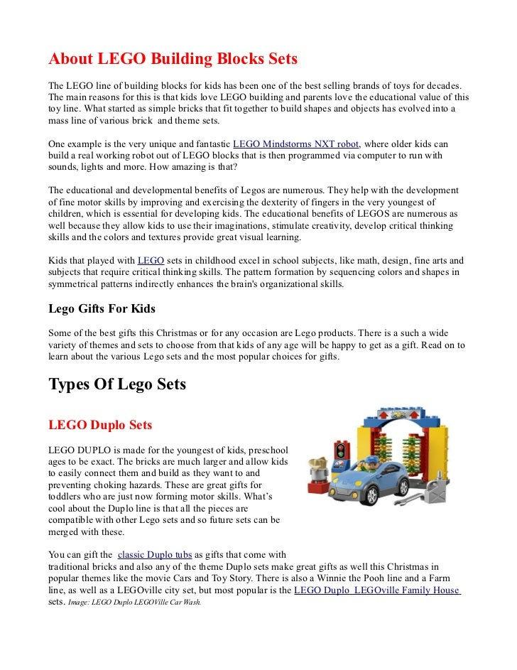 Lego Sets Guide - Best Lego Gifts For Kids
