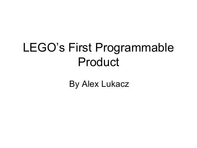 LEGO's First Programmable Product By Alex Lukacz
