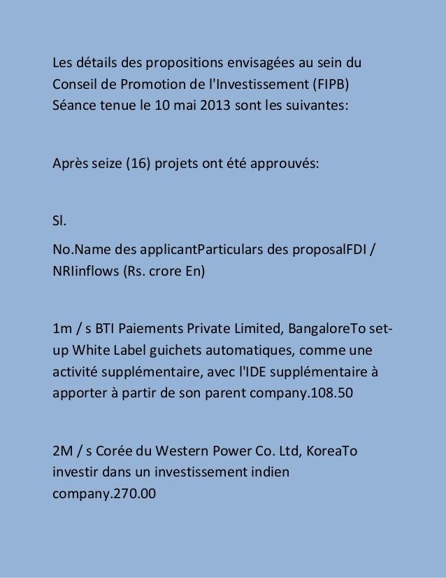 Le gouvernement approuve 16 étrangères propositions d'investissement direct en hausse de tendance entreprises indiennes  ,,, how to setup business by france companies in india guide Slide 2