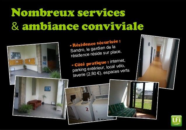 Nombreux services & ambiance conviviale - Résidence sécurisée : Sandro, le gardien de la résidence réside sur place, - Côt...
