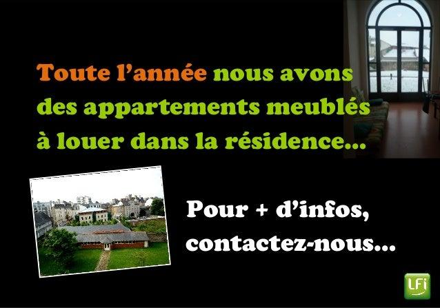 Toute l'année nous avons des appartements meublés à louer dans la résidence… Pour + d'infos, contactez-nous…