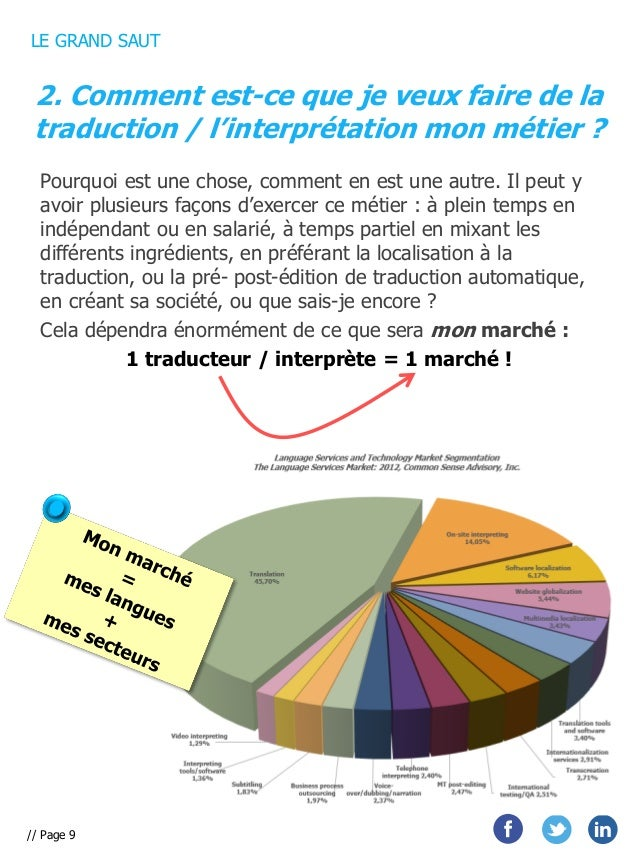 LE GRAND SAUT  2. Comment est-ce que je veux faire de la traduction / l'interprétation mon métier ? Pourquoi est une chose...