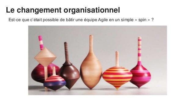 Le changement organisationnel Est-ce que c'était possible de bâtir une équipe Agile en un simple « spin » ?