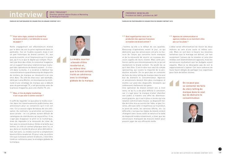 Le guide des acteurs du brand content - 2012 SRI a484b0e335c0