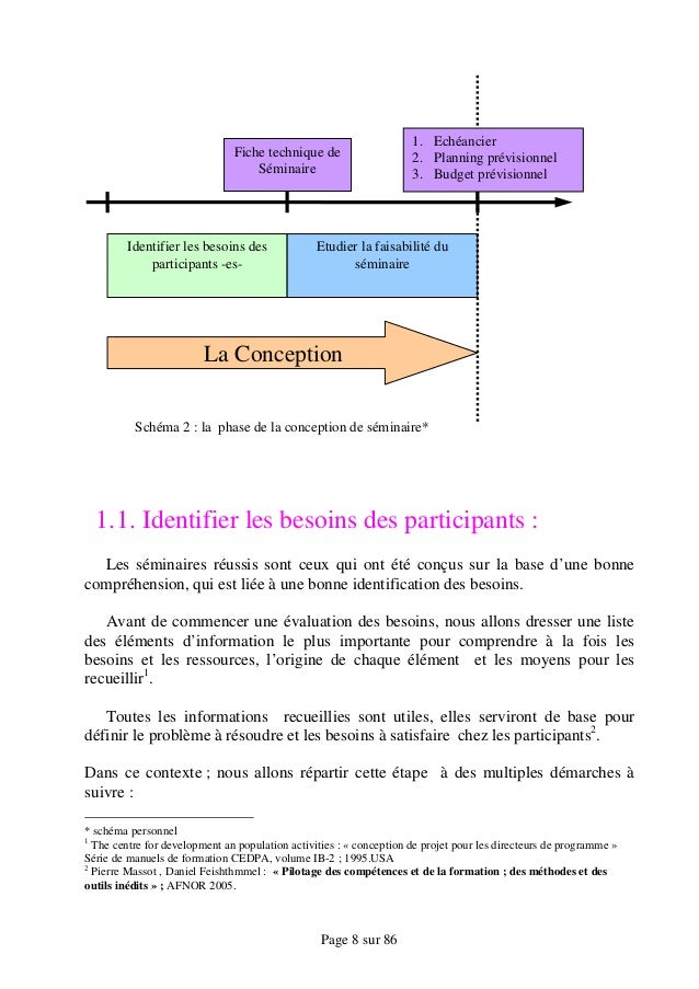 exemple planning seminaire