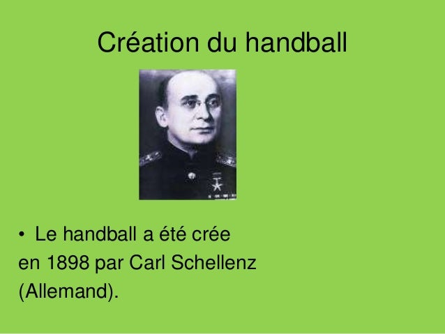 Les règles du handball Le handball est un sport collectif qui se joue en salle . Une équipe se compose de six joueurs de c...