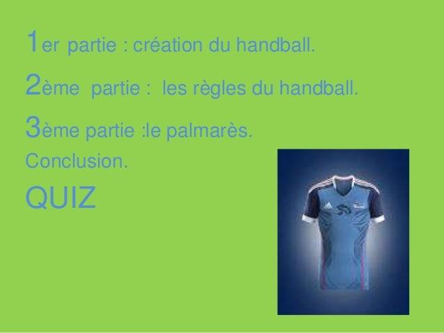 Création du handball