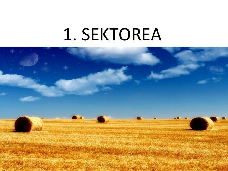 1. SEKTOREA