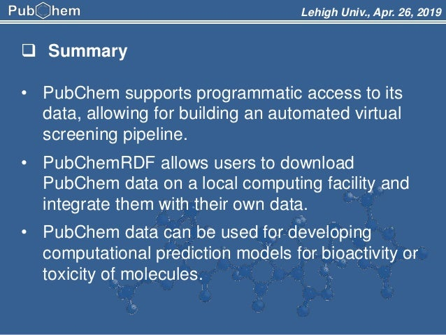 PubChem and Its Applications for Drug Discovery