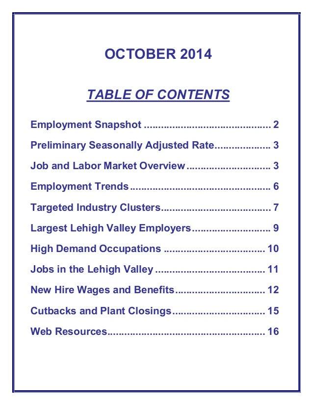 lehigh valley job  u0026 labor market outlook