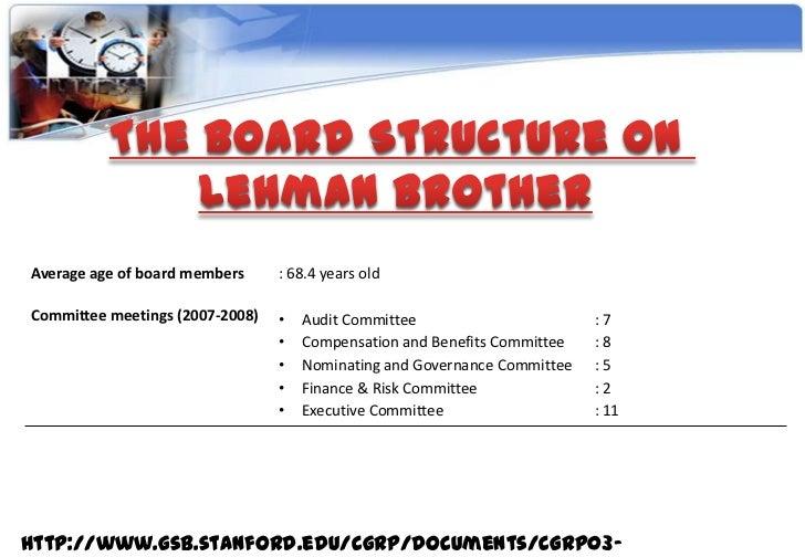 lehman brothers corporate governance failure ppt