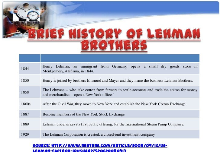 lehman brothers case study audit