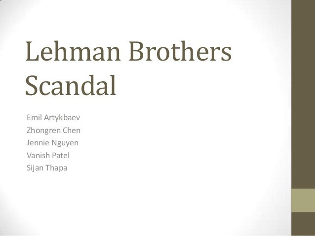 case study the fall of lehman brothers essay