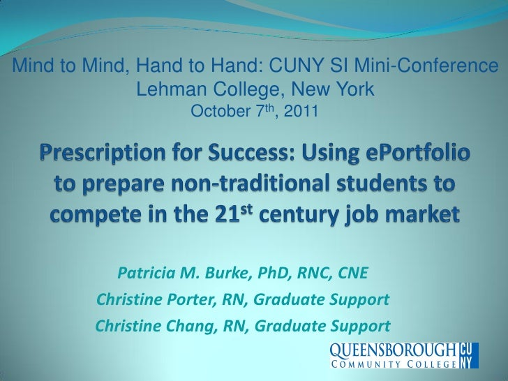 Mind to Mind, Hand to Hand: CUNY SI Mini-Conference              Lehman College, New York                    October 7th, ...