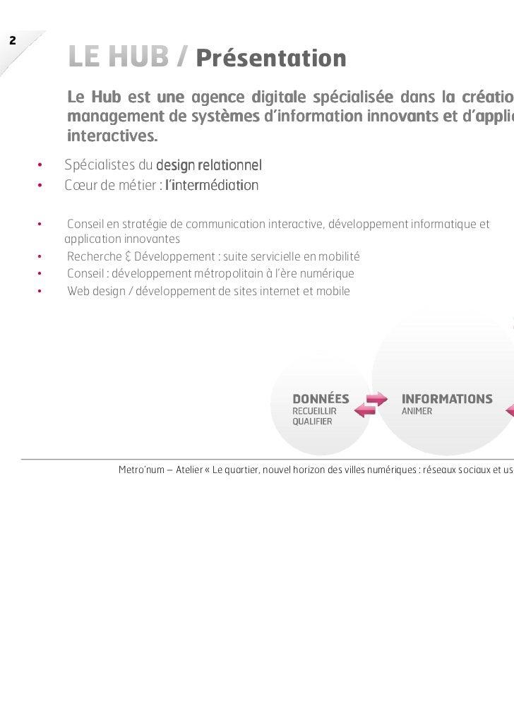 Le Hub Agence_Claire Huberson_Le quartier, nouvel horizon des villes  numériques Slide 2