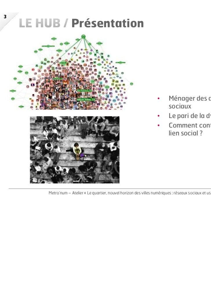 Le Hub Agence_Claire Huberson_Le quartier, nouvel horizon des villes  numériques Slide 3