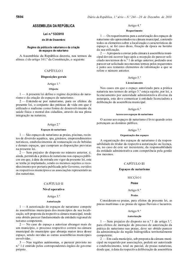 5804 Diário da República, 1.ª série—N.º 244—20 de Dezembro de 2010 ASSEMBLEIA DA REPÚBLICA Lei n.º 53/2010 de 20 de Dezemb...