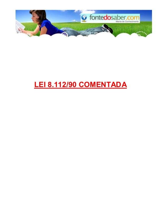 LEI 8.112/90 COMENTADA