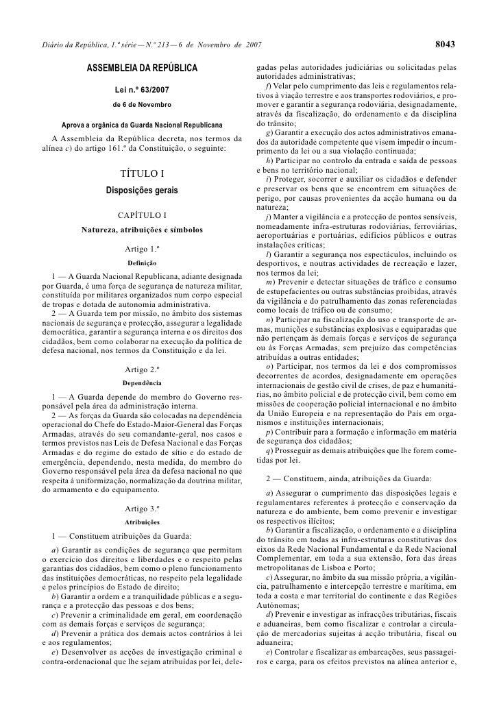 Diário da República, 1.ª série — N.º 213 — 6 de Novembro de 2007                                                     8043 ...
