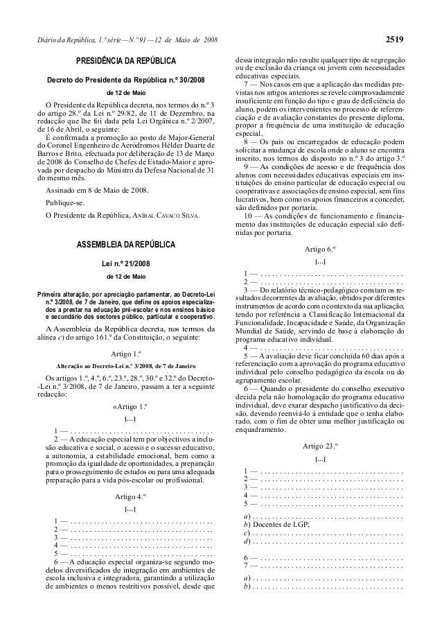 Diário da República, 1.ª série—N.º 91—12 de Maio de 2008 2519PRESIDÊNCIA DA REPÚBLICADecreto do Presidente da República n....
