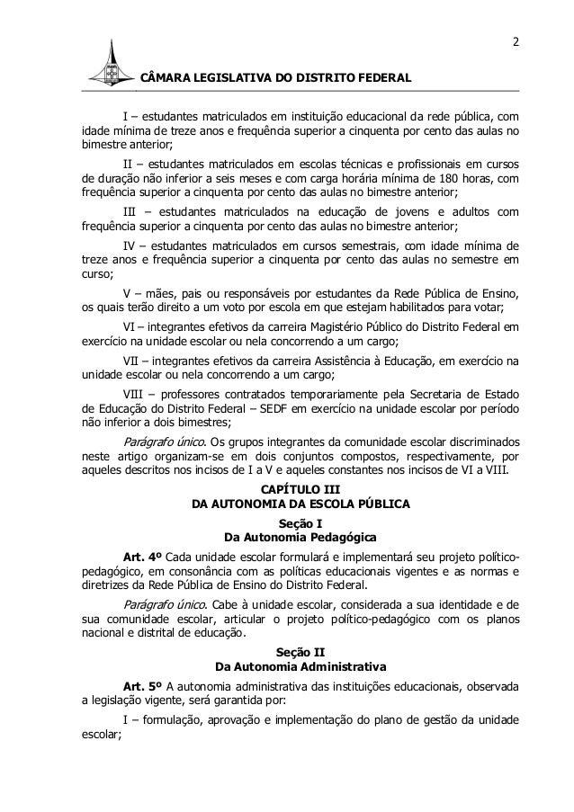 Lei 4751 12 - lei de gestão democratica Slide 2
