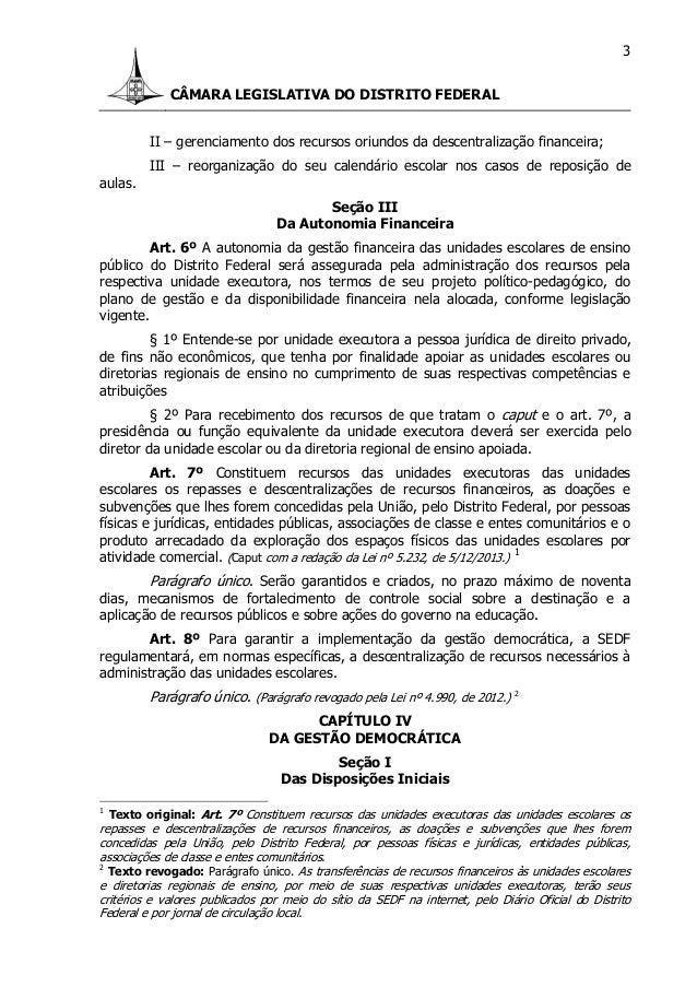 Lei 4751 12 - lei de gestão democratica Slide 3