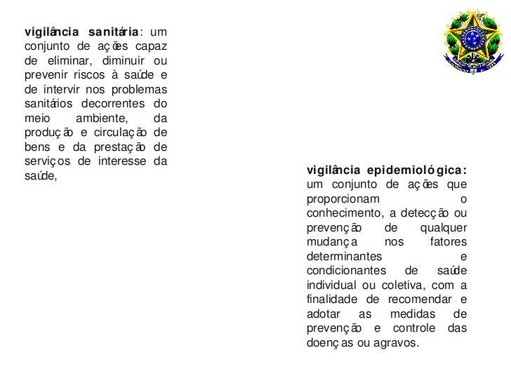 vigilância sanitária: umconjunto de aç õ capaz                 esde eliminar, diminuir ouprevenir riscos à saú e          ...