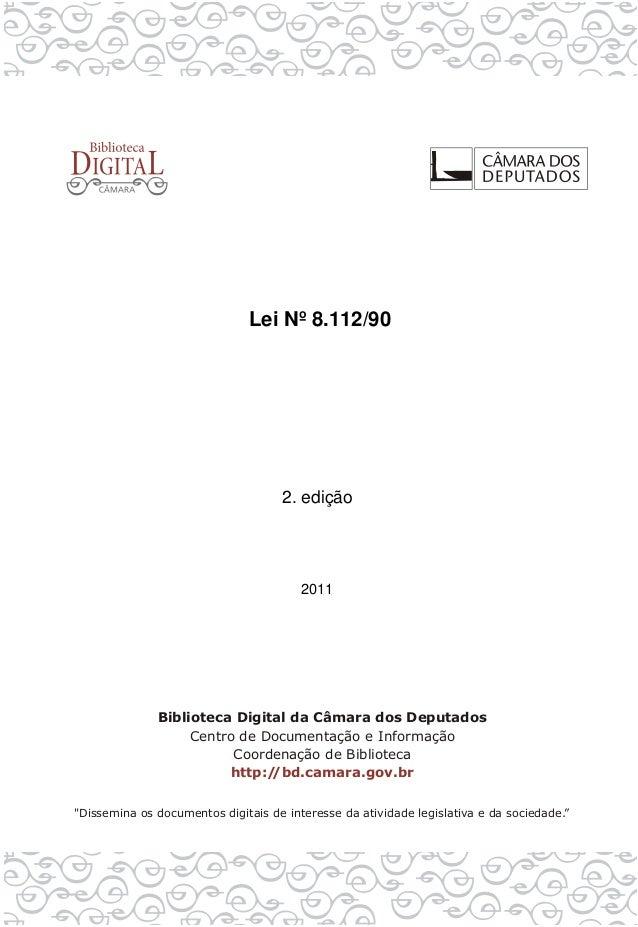 Lei Nº 8.112/90 2. edição 2011