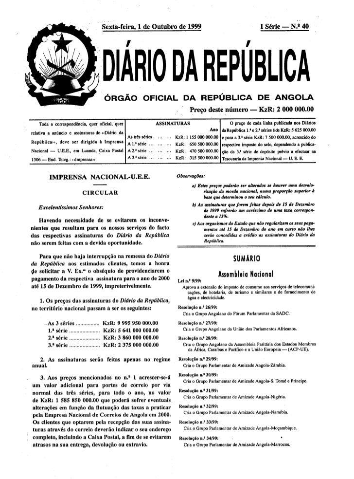 Lei 9 99 imposto consumo (extensão de imposto)