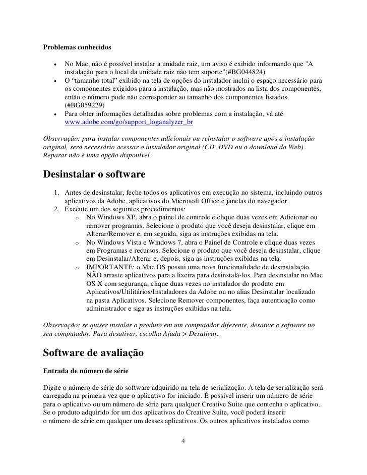 """Problemas conhecidos     •   No Mac, não é possível instalar a unidade raiz, um aviso é exibido informando que """"A        i..."""