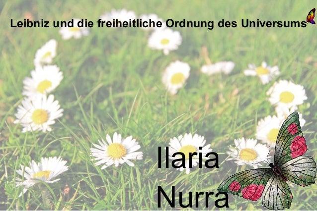 Leibniz und die freiheitliche Ordnung des Universums                         Ilaria                         Nurra