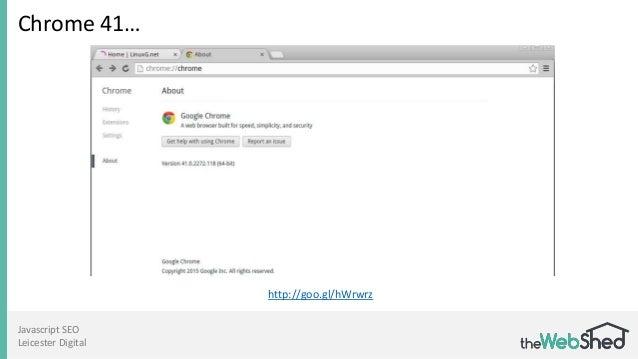 Javascript SEO Leicester Digital Chrome 41… http://goo.gl/hWrwrz