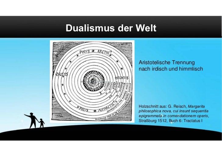 Dualismus der Welt              Aristotelische Trennung              nach irdisch und himmlisch              Holzschnitt a...