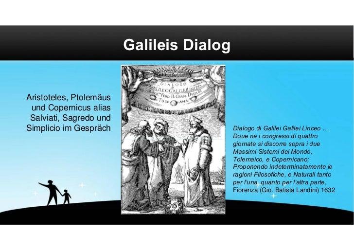 Galileis DialogAristoteles, Ptolemäus und Copernicus alias Salviati, Sagredo undSimplicio im Gespräch                     ...