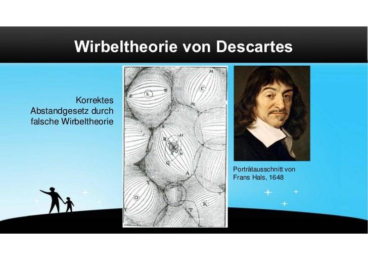 Wirbeltheorie von Descartes           KorrektesAbstandgesetz durchfalsche Wirbeltheorie                              Portr...