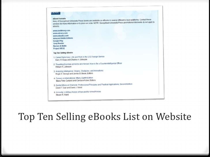 """0 At exhibits, staff member has list of which titles are  available in ebook format and a sign using """"e"""" logo  and tagline..."""